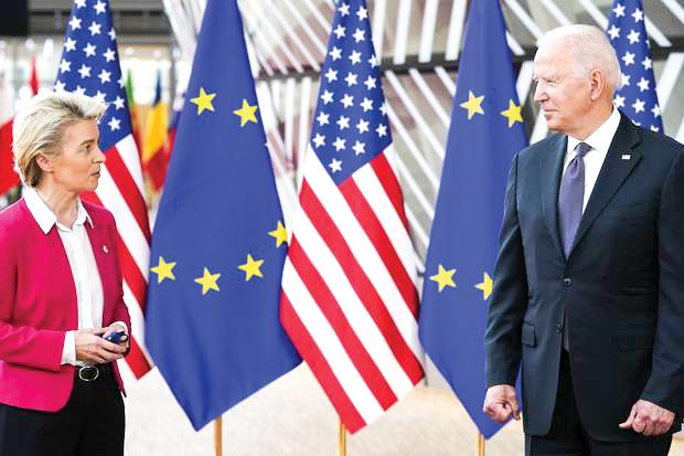 Tổng thống Biden và Chủ tịch Ủy ban châu Âu Ursula von der Leyen. Ảnh: Getty Images