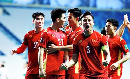 Các cầu thủ Việt Nam làm nên lịch sử. Ảnh: AFC