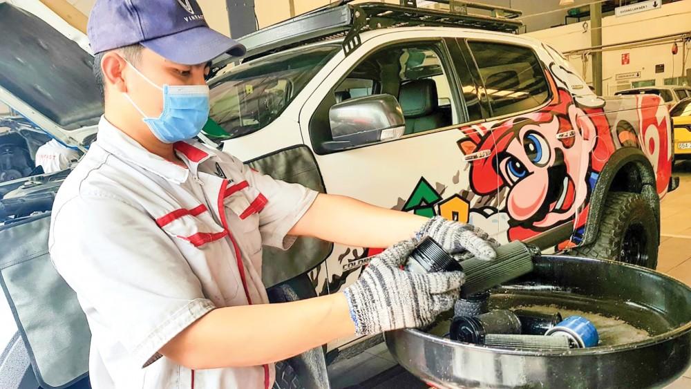 Lượng khách hàng đến xưởng dịch vụ Đại lý VinFast Chevrolet Cần Thơ để bảo trì, bảo dưỡng xe giảm nhiều trong tháng 6.
