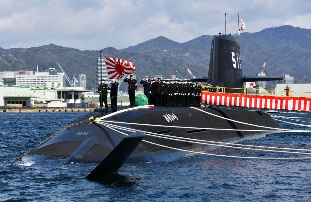 Tàu ngầm Toryu trong lễ bàn giao cho Hải quân Nhật hồi tháng 3. Ảnh: janes.com