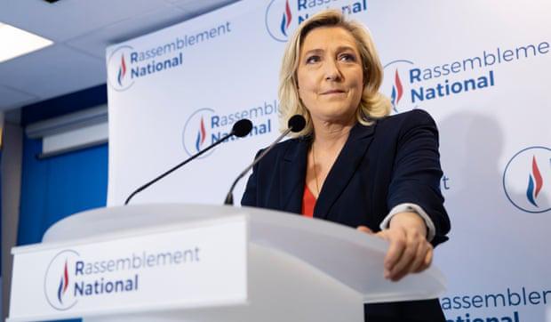 Lãnh đạo phe cực hữu Le Pen. Ảnh: EPA
