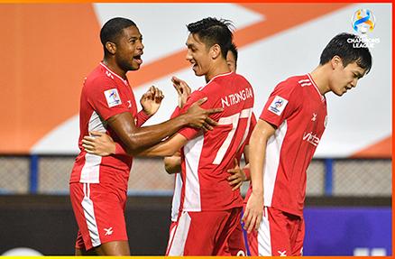 Các cầu thủ Viettel trong chiến thắng CLB Kaya ở AFC Champions League. Ảnh: AFC
