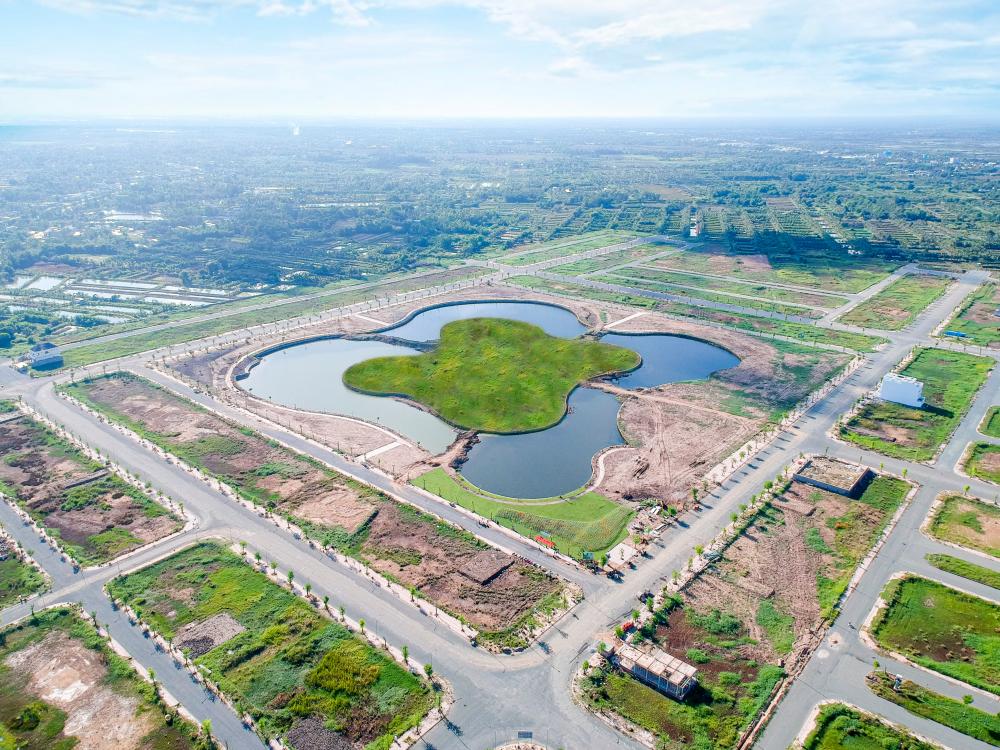 Hồ sinh thái cực đại 12ha chính là công trình mang tính biểu tượng của Đại đô thị Happy Home.
