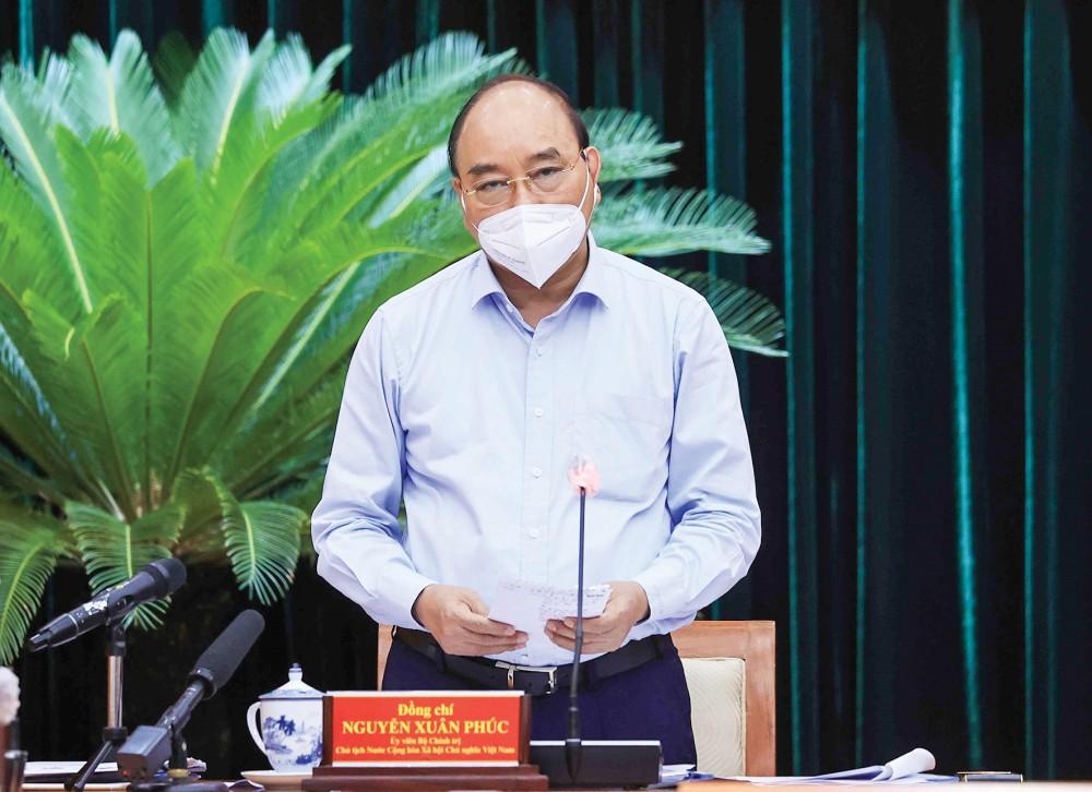 Chủ tịch nước Nguyễn Xuân Phúc phát biểu. Ảnh: THỐNG NHẤT – TTXVN