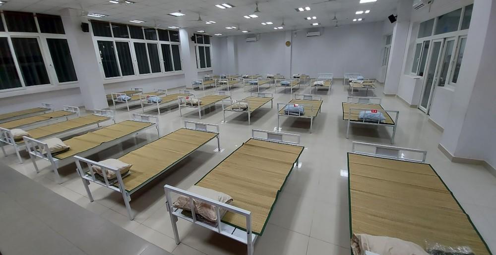 Công ty TNHH Thép Tây Đô đã bàn giao 120 giường cho Bệnh viện dã chiến số 1. Ảnh do Công ty cung cấp.