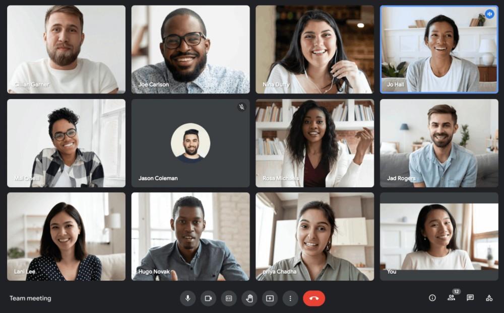 Giao diện cuộc họp trục tuyến với Google Meet. Ảnh: support.google.com