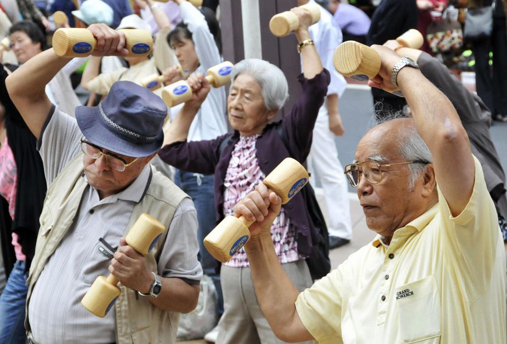 Người cao tuổi ở Nhật. Ảnh: NPR