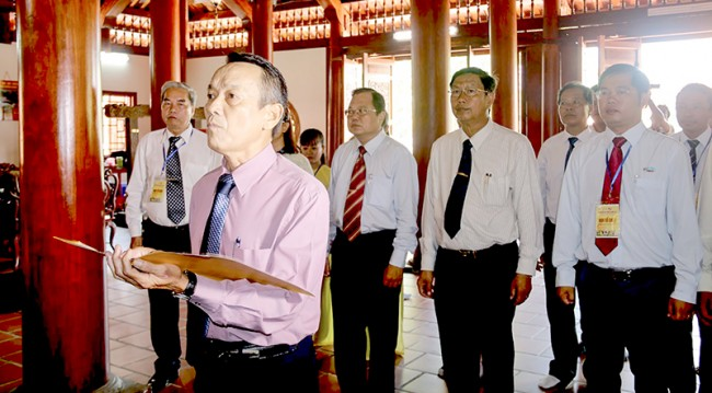 Ban Tổ chức Lễ hội dâng hương, dâng lễ vật tại Đình Thần Tân An.