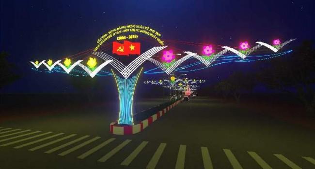 Cổng chào Đường đèn ở giao lộ 30 Tháng 4- Quang Trung