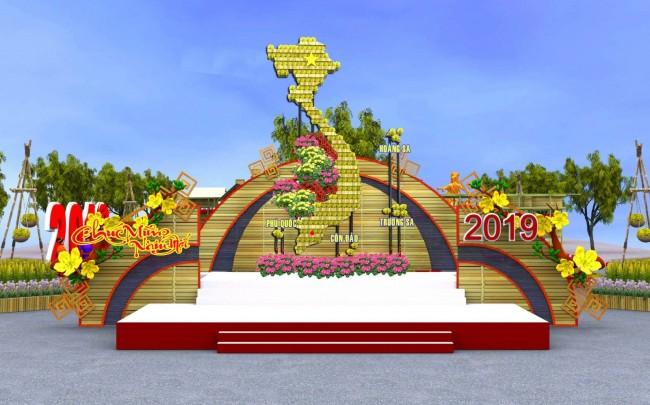 Đoạn 3 bắt đầu bằng sân khấu với hình ảnh bản đồ Tổ quốc Việt Nam.