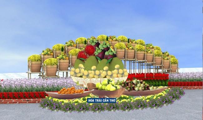 Mô hình hoa trái Cần Thơ (ở đoạn 2).