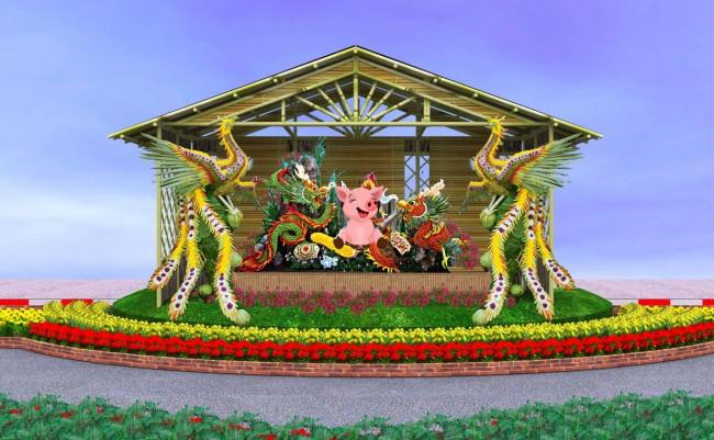 Nghệ thuật tạo hình trái cây Nam bộ (ở đoạn 3).