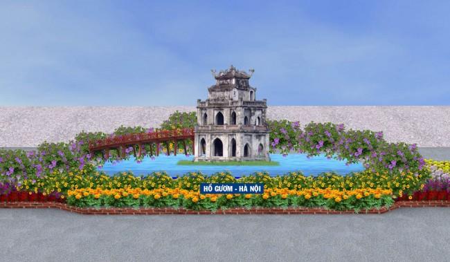 Mô hình Hồ Gươm- Hà Nội (ở đoạn 1).
