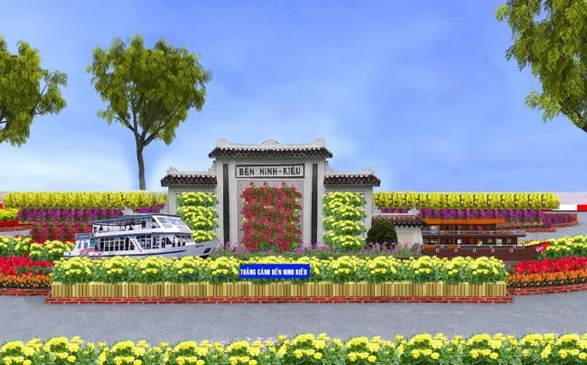 Mô hình bến Ninh Kiều (ở đoạn 1).