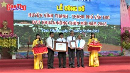 Vĩnh Thạnh - huyện thứ hai của Cần Thơ đạt chuẩn huyện nông thôn mới