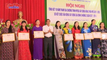 Hội phụ nữ tổng kết 10 năm xây dựng nông thôn mới