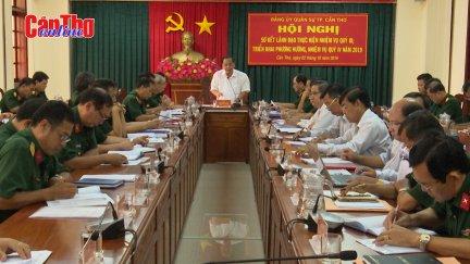 Đảng ủy Quân sự thành phố sơ kết công tác quý III-2019