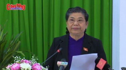 Phó Chủ tịch Thường trực Quốc hội Tòng Thị Phóng phát biểu chỉ đạo kỳ họp thứ 14 HĐND TP Cần Thơ