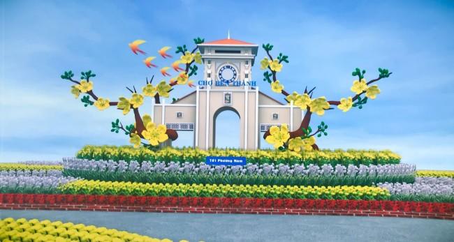 Tết Phương Nam với hình ảnh chợ Bến Thành (TP Hồ Chí Minh)