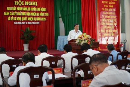 Huyện ủy Vĩnh Thạnh thực hiện đạt 13/13 chỉ tiêu Nghị quyết năm 2019