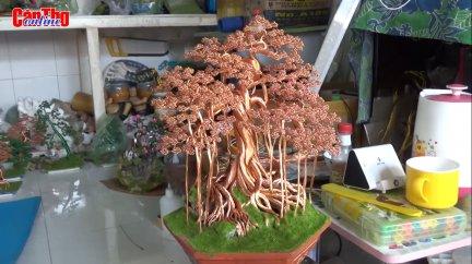 """""""Hô biến"""" dây đồng thành tác phẩm bonsai"""
