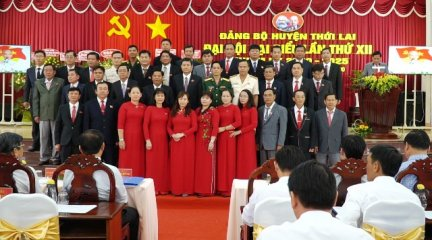 Thới Lai ra mắt Ban Chấp hành Đảng bộ huyện nhiệm kỳ 2020-2025