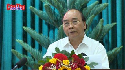 Thủ tướng Nguyễn Xuân Phúc làm việc với lãnh đạo các địa phương vùng ĐBSCL