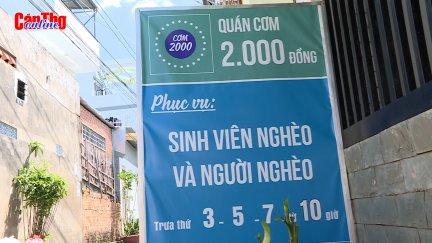 Ấm lòng quán cơm 2.000 đồng ở Cần Thơ