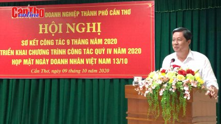 Đảng ủy Khối Doanh nghiệp TP Cần Thơ sơ kết 9 tháng năm 2020