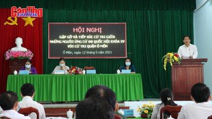 Những người ứng cử đại biểu Quốc hội và HĐND thành phố gặp gỡ, tiếp xúc cử tri