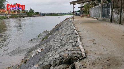 Tìm giải pháp khắc phục sạt lở bờ sông tại quận Thốt Nốt