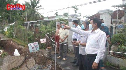 Đảm bảo tiến độ các công trình chống sạt lở tại quận Ô Môn