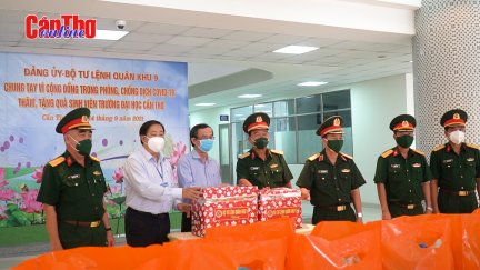 Bộ Tư lệnh Quân khu 9 thăm và tặng quà sinh viên bị ảnh hưởng dịch COVID-19