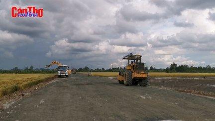 Đẩy nhanh tiến độ, thông xe kỹ thuật đường tỉnh 922 vào cuối năm nay