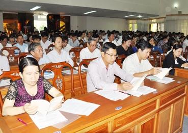 Gần 7.000 cán bộ, đảng viên được học tập, quán triệt Nghị quyết Trung ương 4 khóa XII
