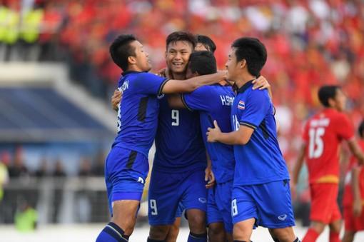 Thắng U22 Myanmar phút bù giờ, U22 Thái Lan vào chung kết