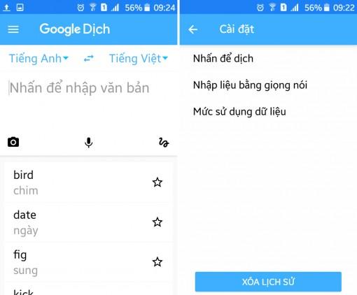Cách sử dụng ứng dụng Dịch trên Android