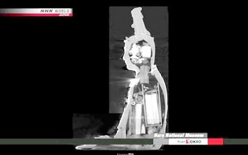 Phát hiện cổ vật trong tượng 700 tuổi
