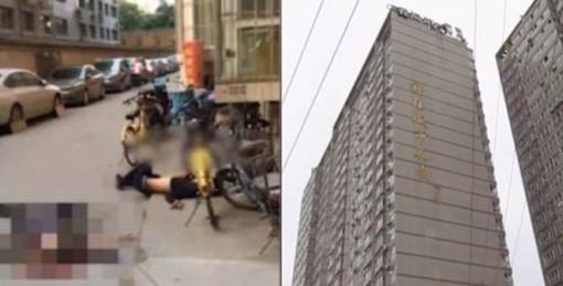 Chết thảm sau khi bị người nhảy lầu tự tử rơi trúng đầu
