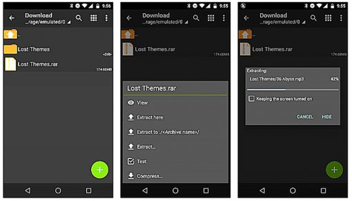 Giải nén tập tin RAR trên thiết bị di động Android