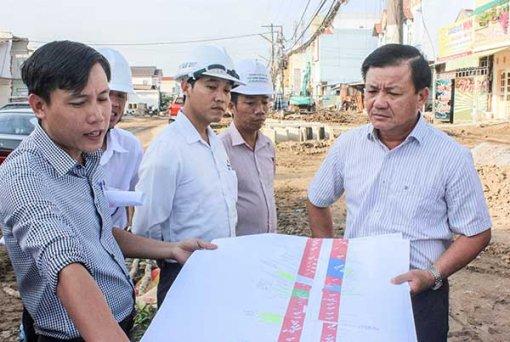 Đẩy nhanh tiến độ công trình đường nối Cách Mạng Tháng Tám đến đường tỉnh 918