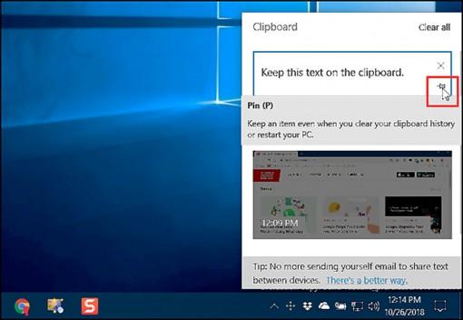 Những điểm hấp dẫn mới của Clipboard  trong Windows 10