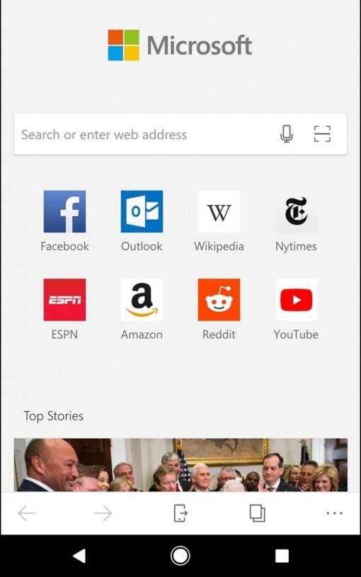 Trình duyệt web Microsoft Edge trên Android cải tiến với nhiều tính năng mới