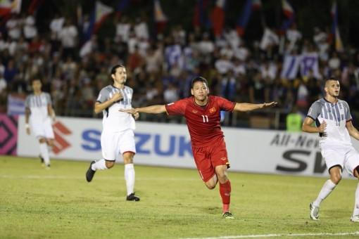 Giành chiến thắng lượt đi trước Philippines, tuyển Việt Nam đặt vé vào chung kết