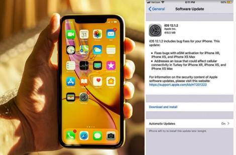Apple tung ra bản  cập nhật iOS 12.1.2