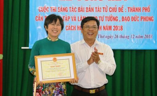 Tác giả Nguyễn Thị Vỗ đoạt giải Nhất