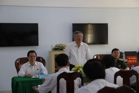 Chánh án TAND tối cao Nguyễn Hòa Bình thăm và làm việc tại TAND  TP Cần Thơ