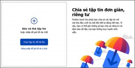 Mozilla tung ra dịch vụ chia sẻ tập tin dung lượng đến 1 GB