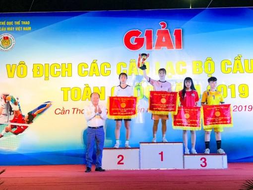 Bế mạc Giải vô địch các CLB Cầu mây toàn quốc 2019