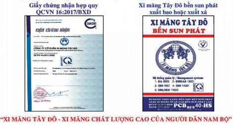 Công ty Cổ phần Xi măng Tây Đô thông báo sản phẩm mới